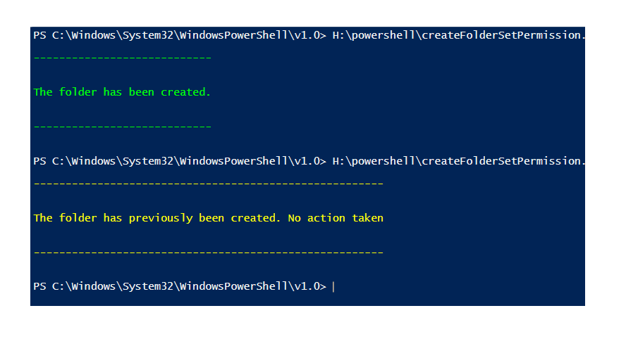 Create a folder and set permissions on it using PowerShell