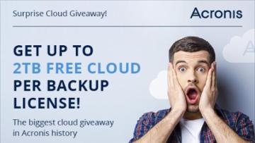 Get up to 2TB FREE CLOUD per backup license!