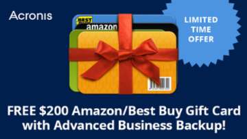 Free Gift Card with Acronis Backup Purchase!