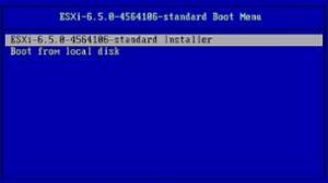 ESXi 6.5 Installer