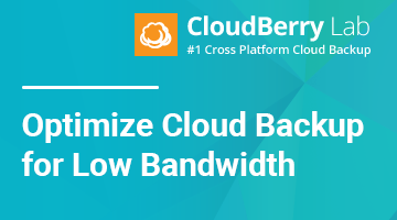 Optimizing Cloud Backup for Low Bandwidth