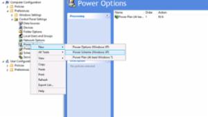 Power Options - New - Power Scheme