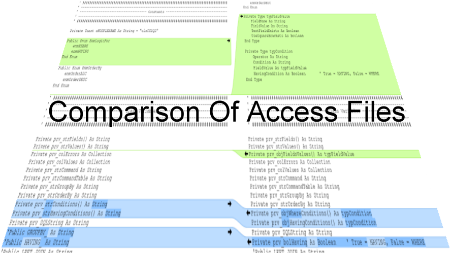 Comparison Of Access Files