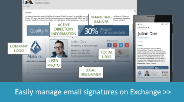 Email Signatures Manager for Exchange Server