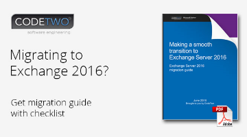 Exchange 2016 Migration Guide - download free PDF!