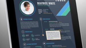 Interactive e-Resume Template Vol. 1