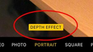 Depth effect indicator