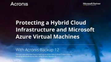 Use Case: Protecting a Hybrid Cloud Infrastructure