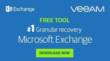 Granular recovery for Microsoft Exchange