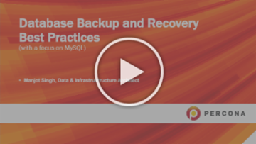 [Webinar] Database Backup and Recovery