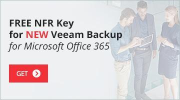 NFR key for Veeam Backup for Microsoft Office 365