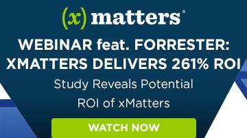 Forrester Webinar: xMatters Delivers 261% ROI