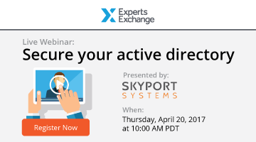 Secure Your Active Directory - April 20, 2017