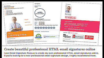 Create Professional Looking Email Signatures