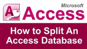 Split MS Access Database