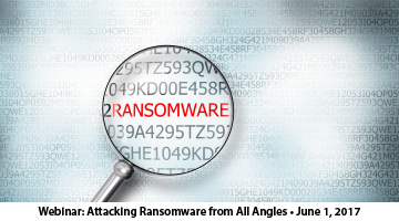 Webinar June 1st - Attacking Ransomware