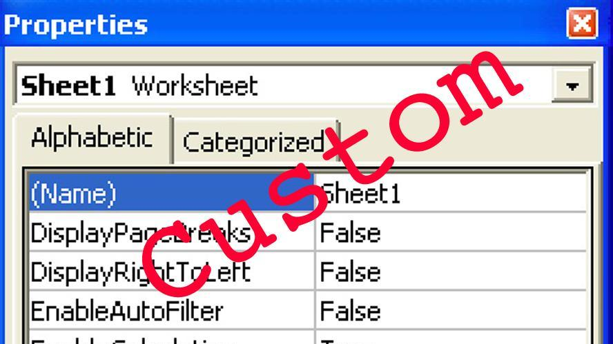 Custom Document Properties in Excel