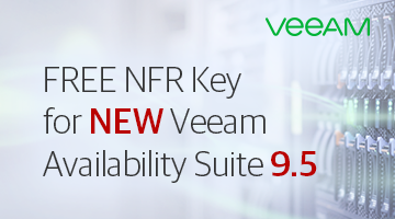 Get free NFR key for Veeam Availability Suite 9.5