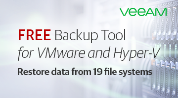 Free Backup Tool for VMware and Hyper-V