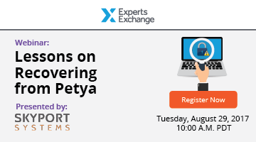 [Webinar] Lessons on Recovering from Petya