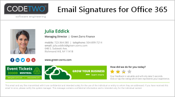 Email signature solution for Office 365