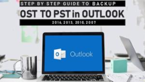 OST to PST in Outlook 2016