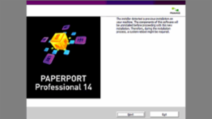 PaperPort installer detected previous installation