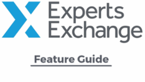 Experts Exchange Feature Guide