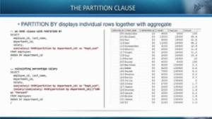 Order by Clause in Oracle Analytic Functions