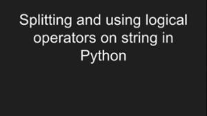 Logical Operators in Python -