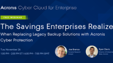 11/26 Forrester Webinar: Savings for Enterprise