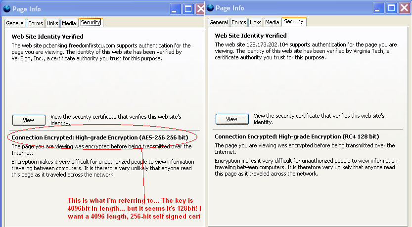 How to create TRUE 256-bit self-signed certificates using OpenSSL to ...