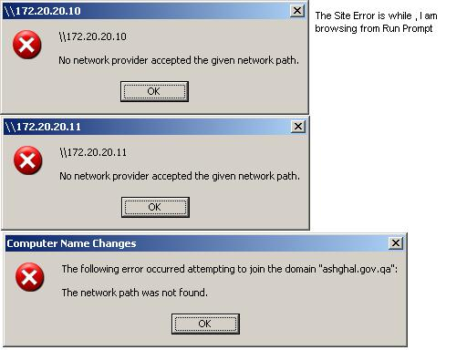 The Network Path Was not found while joining the DOmain