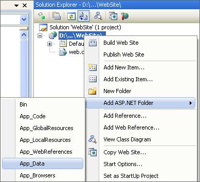 Create App_Data folder