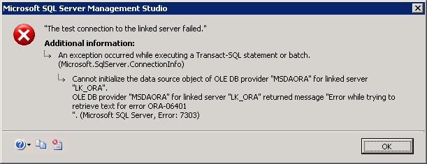 Catastrophic Failure when deleting rows in linked Oracle