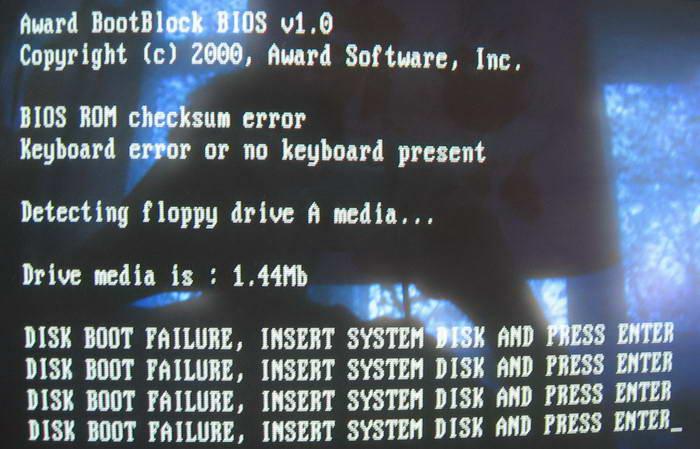 2ca2fe75afb BIOS ROM Checksum error (MSI MS-7005)