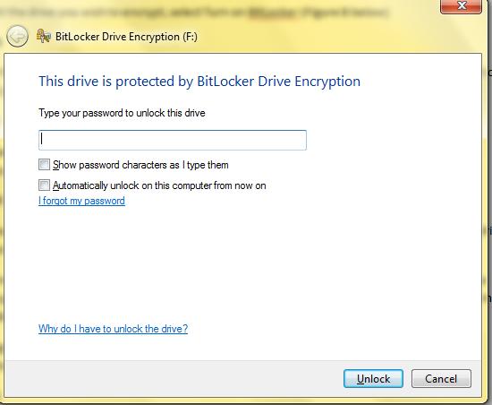BitLocker to go