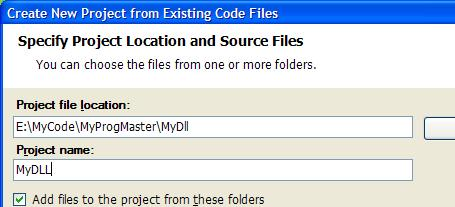 Create DLL From Files, part 1