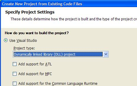 Create DLL From Files, part 2