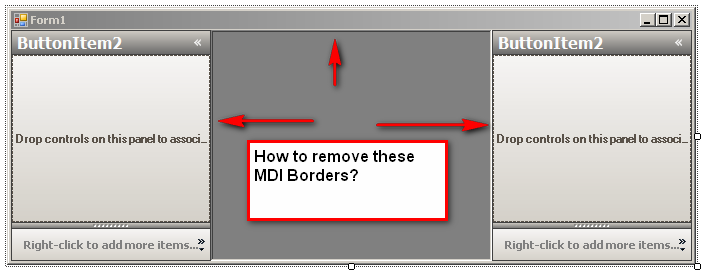 How to remove nasty 3D Borders in MDI Parent Forms