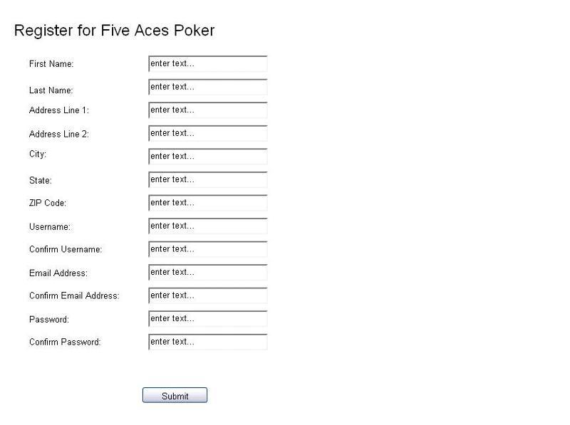 Control Registration Page