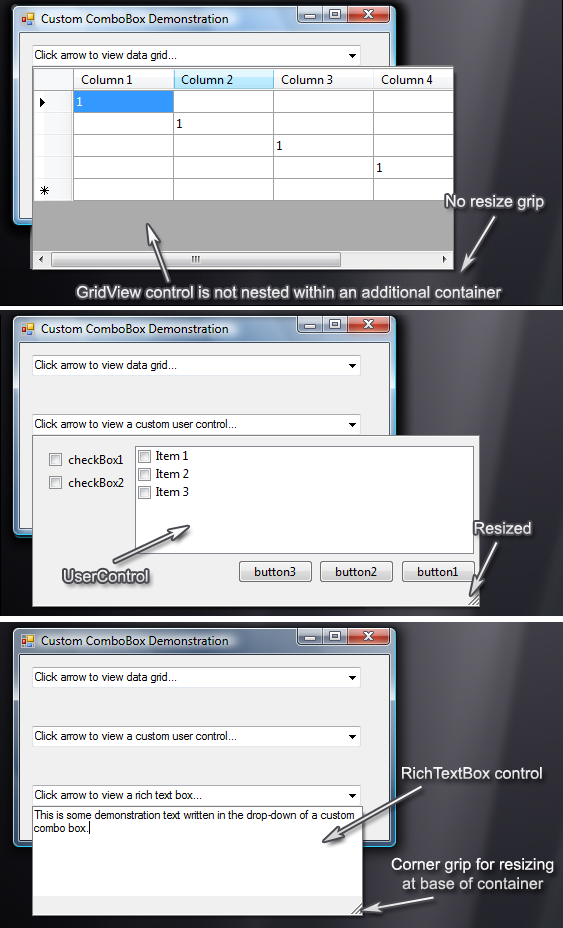 Screenshot Examples