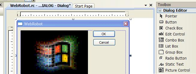 Adding the web browser control to the dialog