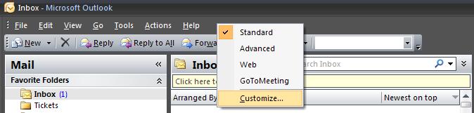 Customize your Toolbar