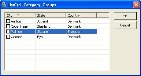 How to implement group view in ListView in C++?
