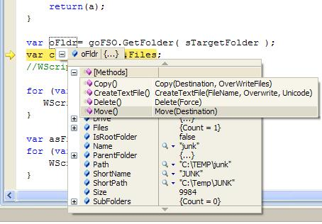 Intelligent debugging of ActiveX objects