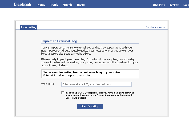 Adding Blog Entries Rss Feeds To A Facebook Page