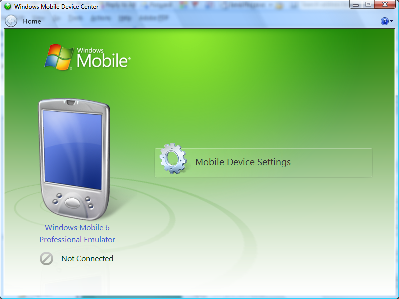 windows mobile 6 classic emulator network connection windows 10