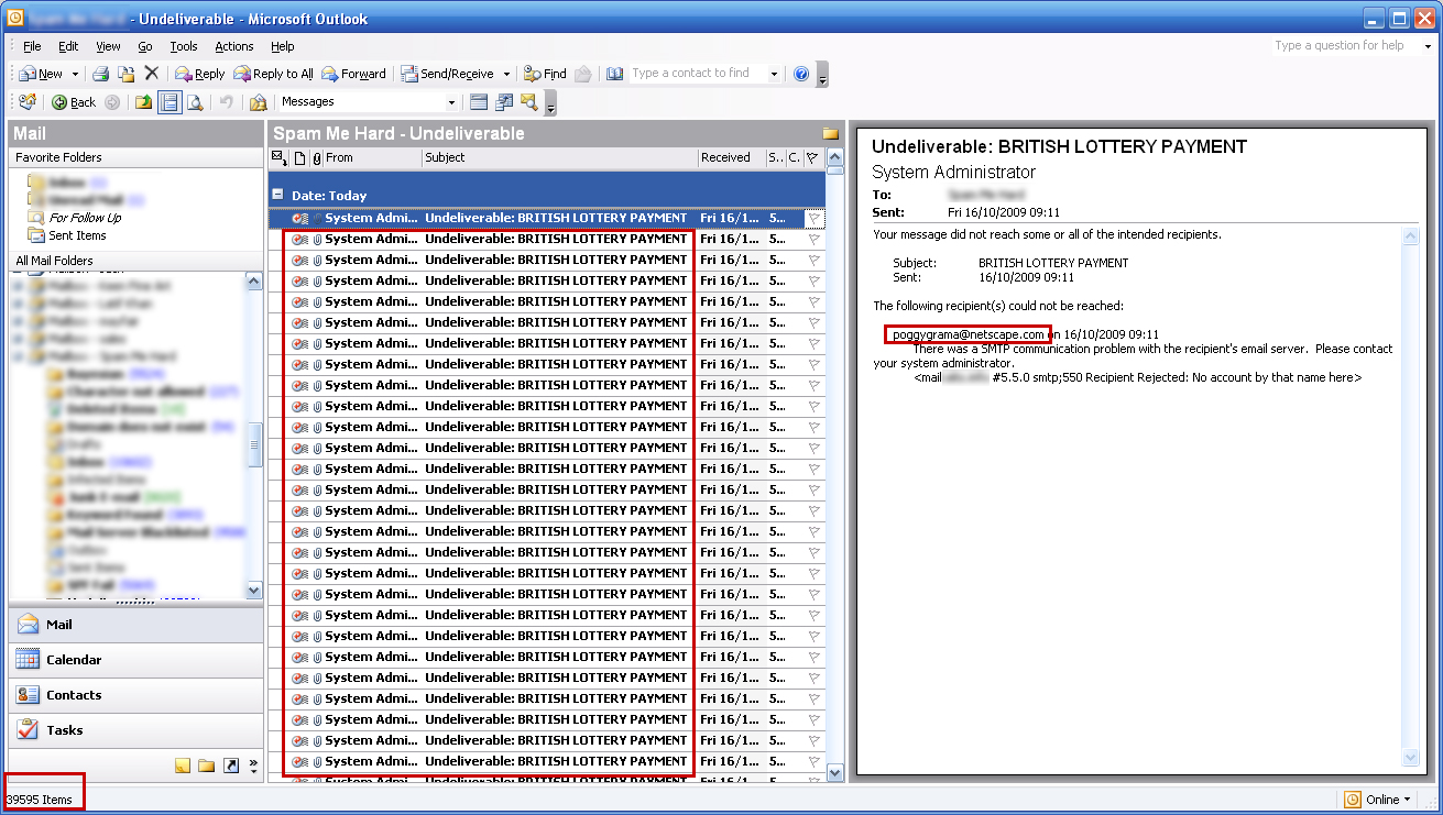 outlook undeliverable email virus