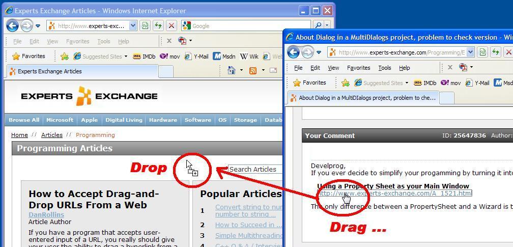 Drag And Drop Web Browsing